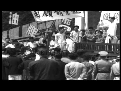 British military and Shanghai Municipal Police maintain order in face of Chinese ...HD Stock Footage