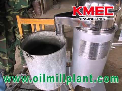 Test KMEC Tubular centrifuge