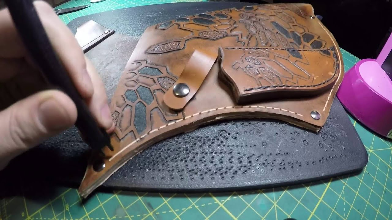 Leather Archery Quiver - YouTube  Leather Archery...