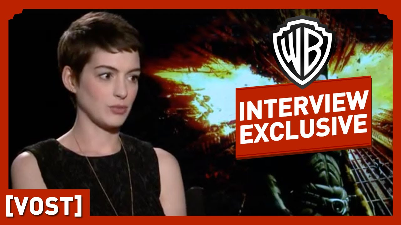 Batman : The Dark Knight Rises - Interview Anne Hathaway - Christian Bale / Christopher Nolan