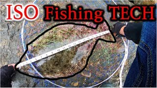 How to Catch a KEEPER Halibut at a NEW Spot! Great TIPS and ISO Technique?!