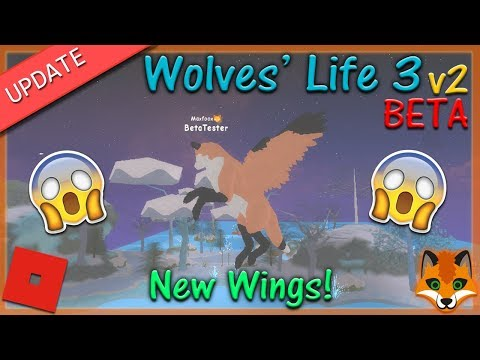 Roblox Wolves Life 3 V2 BETA WINGS 2 HD Match