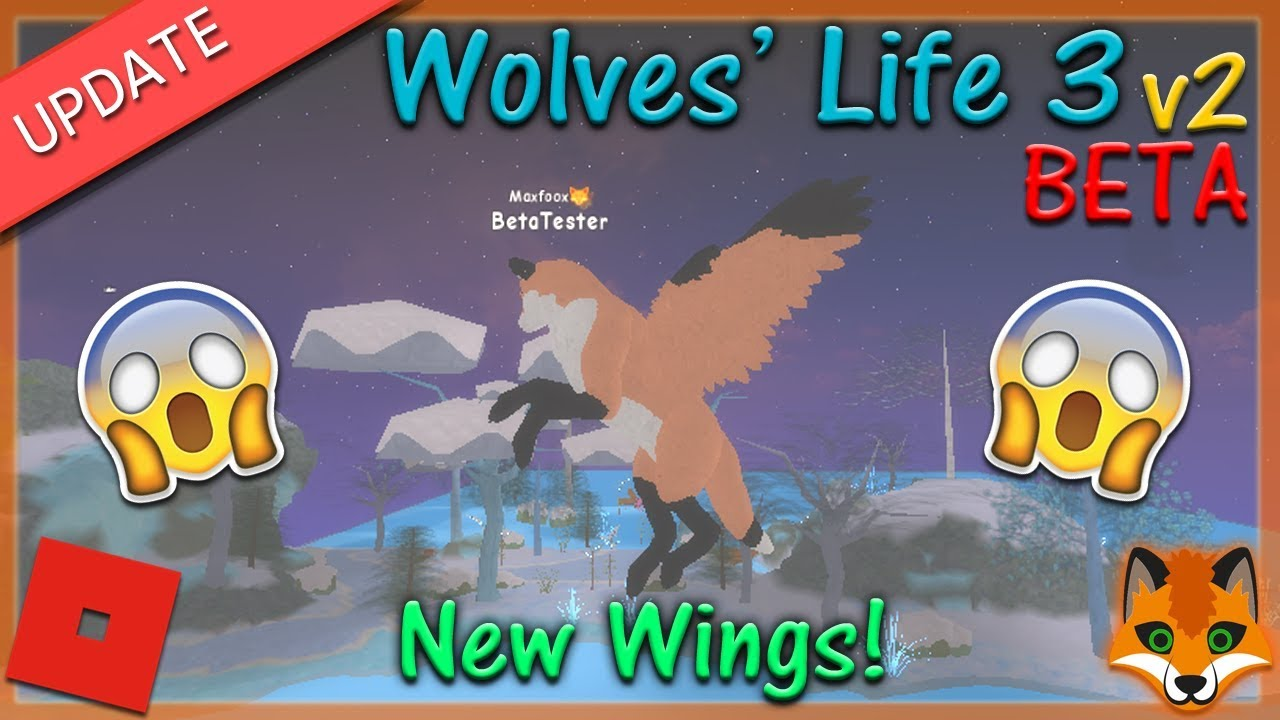 Roblox Wolves Life Roblox Wolves Life 3 V2 Beta Wings 2 Hd Youtube