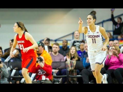 UConn Women's Basketball Highlights v. Duquesne 12/22/2017