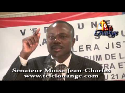 Senateur Moise Jean Charles- Dossier des aides internationales et l'exploitation en Haiti