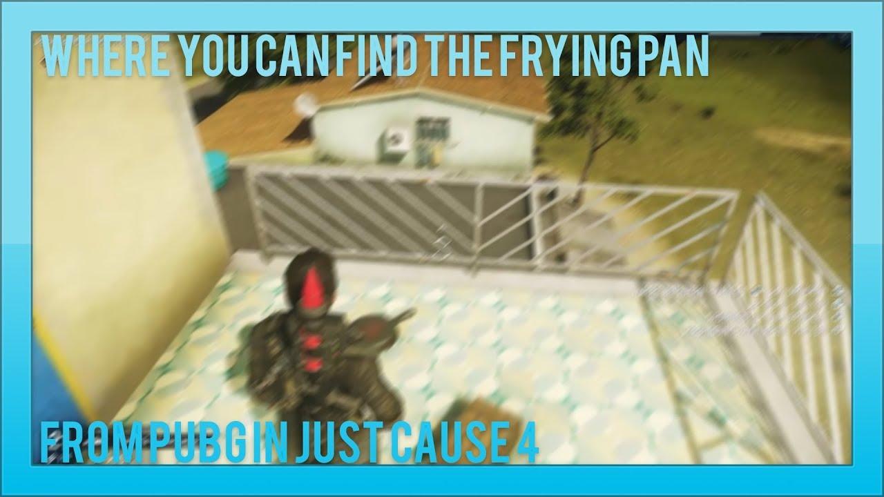 В Just Cause 4 нашли сковородку из PUBG, которая может спасти вас от смерти — видео