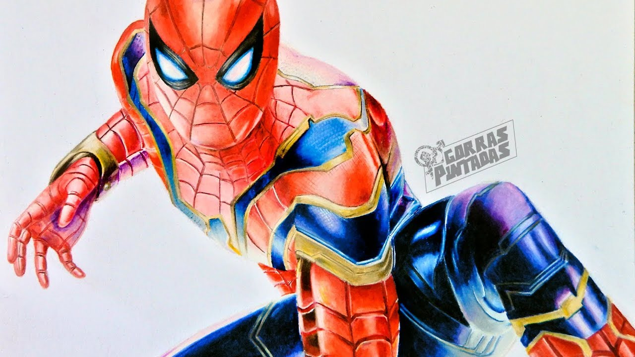 COMO DIBUJAR A IRON SPIDERMAN