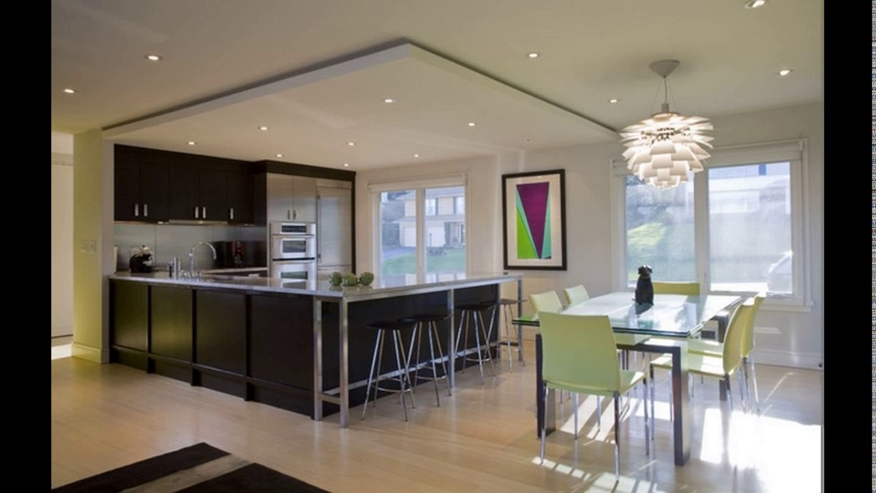 Down ceiling designs for kitchen - YouTube