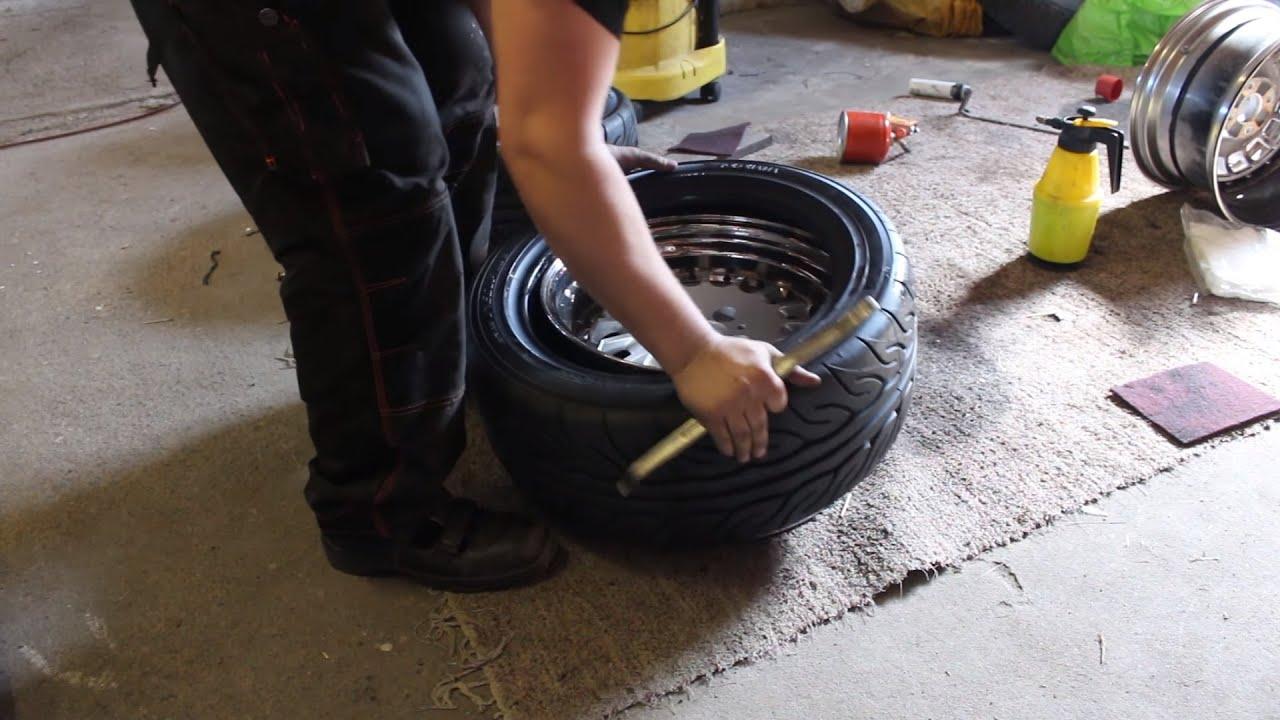 how to mount tires by hand yokohama advan neova ad08r. Black Bedroom Furniture Sets. Home Design Ideas