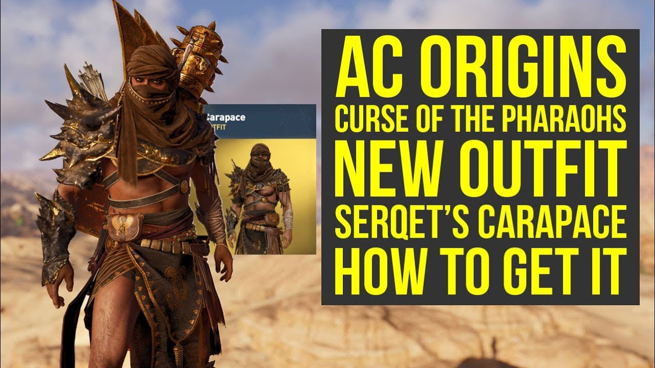 Assassin S Creed Origins Dlc New Amazing Outfit Serqet S Carapace