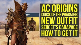 Assassin's Creed Origins DLC NEW AMAZING OUTFIT Serqet's Carapace (AC Origins Curse of the Pharaohs)