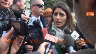 Virginia Raggi rende omaggio al Memoriale di Moro