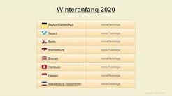 Winteranfang 2020 - Datum - Festtage Deutschland 2020