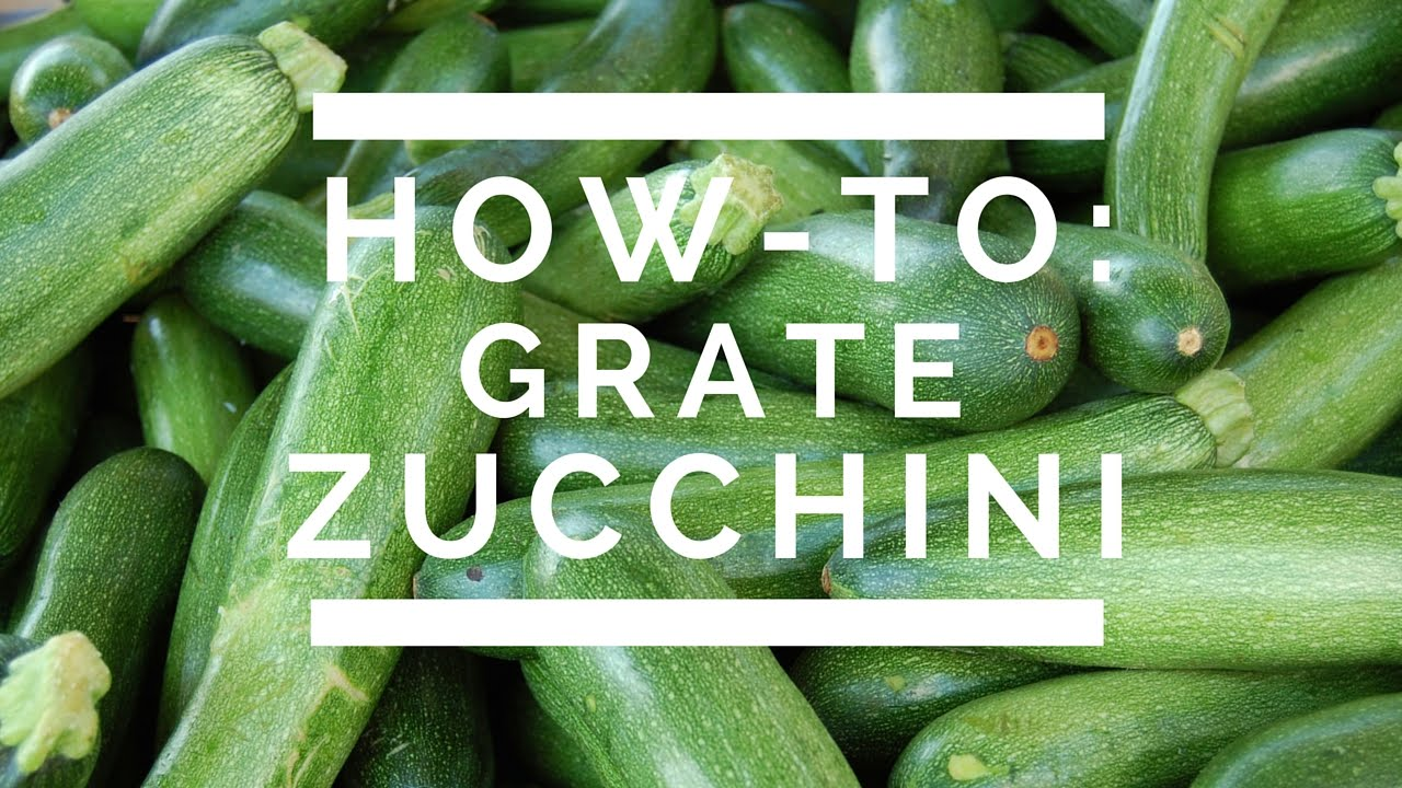 How to Grate Zucchini
