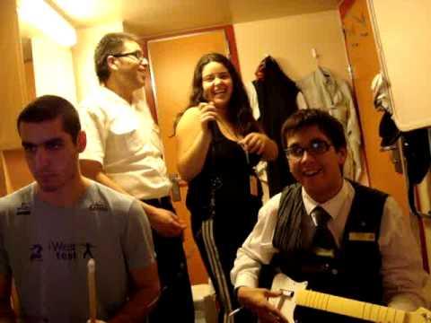 Crew Beatles no Costa Concordia