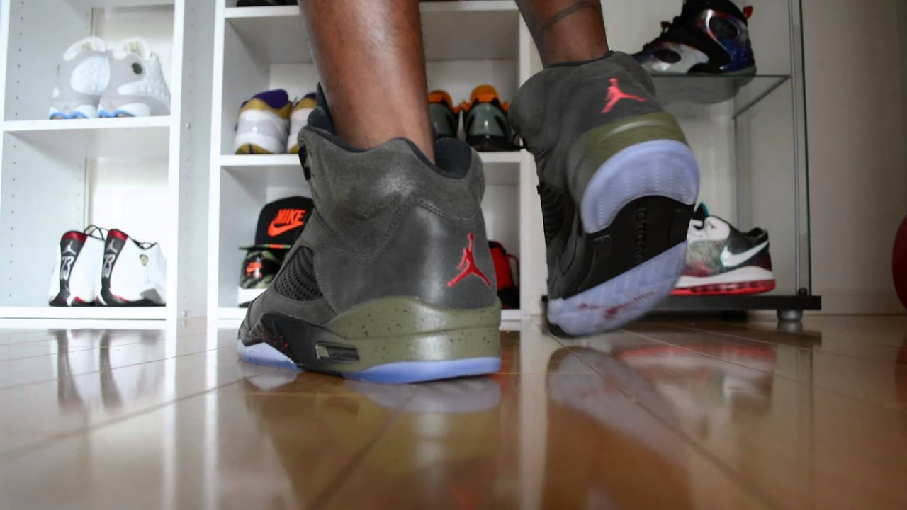 608eac6046483 On Feet  Air Jordan V Retro  Fear  (HD) IG  Sneakaninjaz - YouTube