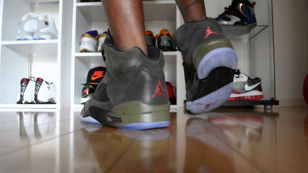 39fec3d50dc6 2013 air jordan 5 fresh prince of bel air v sneaker review on feet w ...