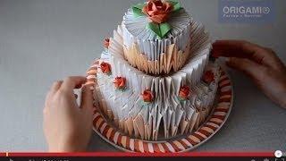 как сделать торт из модулей оригами