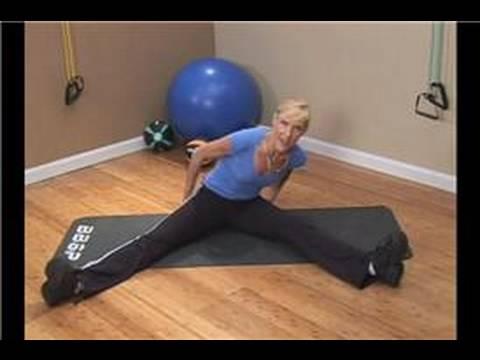 basic stretching exercises  seated straddle splits