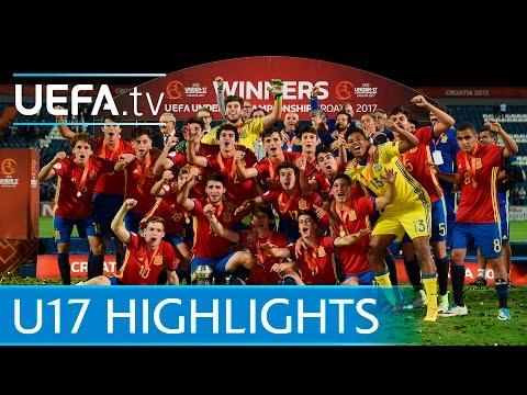 Spain v England: Watch last-gasp Spain claim U17 title