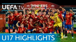 Spain v England: Watch last-gasp Spain claim U17 title