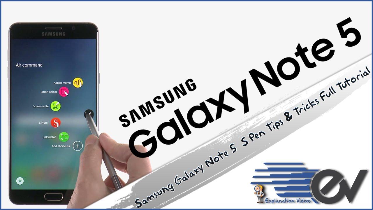 Samsung galaxy note 5 s pen tips tricks full tutorial youtube baditri Choice Image
