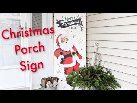 Christmas Porch Sign    DIY Porch Sign
