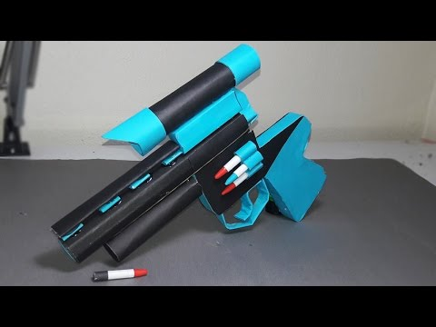 | DIY | How to make a paper ZOMBIE GUN that shoots paper bullets-TOY WEAPONS- By Dr. Origami