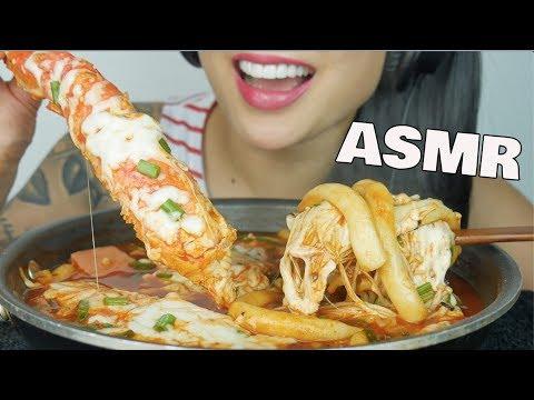 ASMR KING CRAB SPICY NOODLES LONG RICE CAKES (COOKING SLURPING EATING SOUNDS) NO TALKING | SAS-ASMR