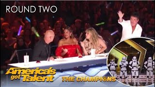 Boogie Storm: Simon Cowell STEALS The Golden Buzzer on @America's Got Talent Champions