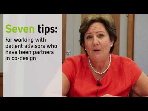 7 tips for working with patient advisors in co-design