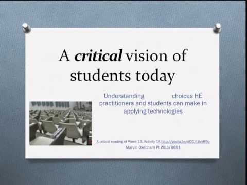 A Critical Vision of Student's Today