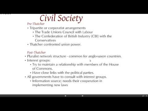 UK political society & culture