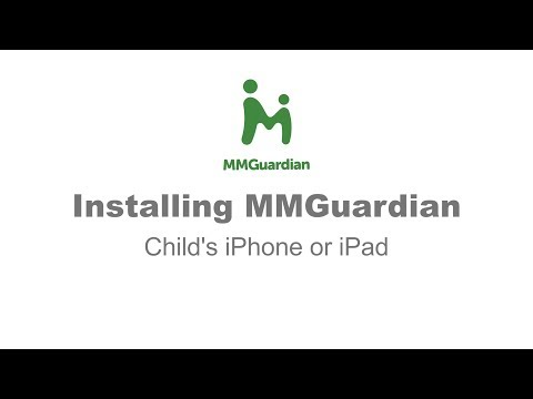 Installing the MMGuardian child app for iPhone and iPad