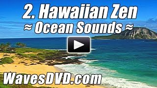2 - HAWAIIAN ZEN - WAVES DVD Virtual Vacations Nature Videos relaxing ocean sounds relax best beach