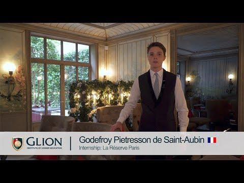 Glion internship student Godefroy Pietresson de Saint-Aubin | in French