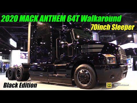 2020 Mack Anthem 64T 70inch Sleeper Black Limited Edition - Exterior Interior Walkaround