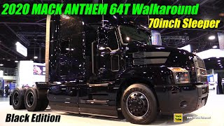 Download 2020 Mack Anthem 64T 70inch Sleeper Black Limited Edition - Exterior Interior Walkaround Mp3 and Videos