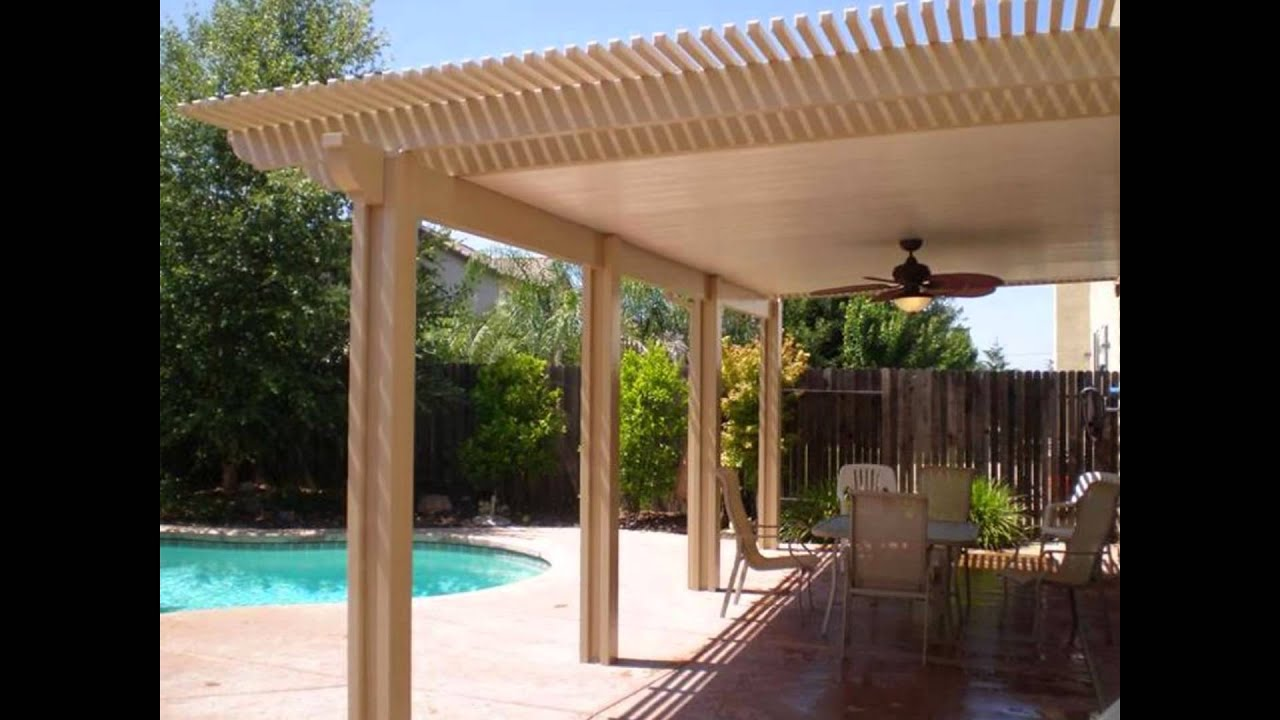 diy patio covers - YouTube on House Backyard Deck id=71338