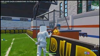 FREE FORTNITE OVERTIME CHALLENGE SCORE A GOAL ON AN INDOOR SOCCER PITCH LOCATION