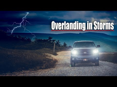 Truck Camping In Strong Storms