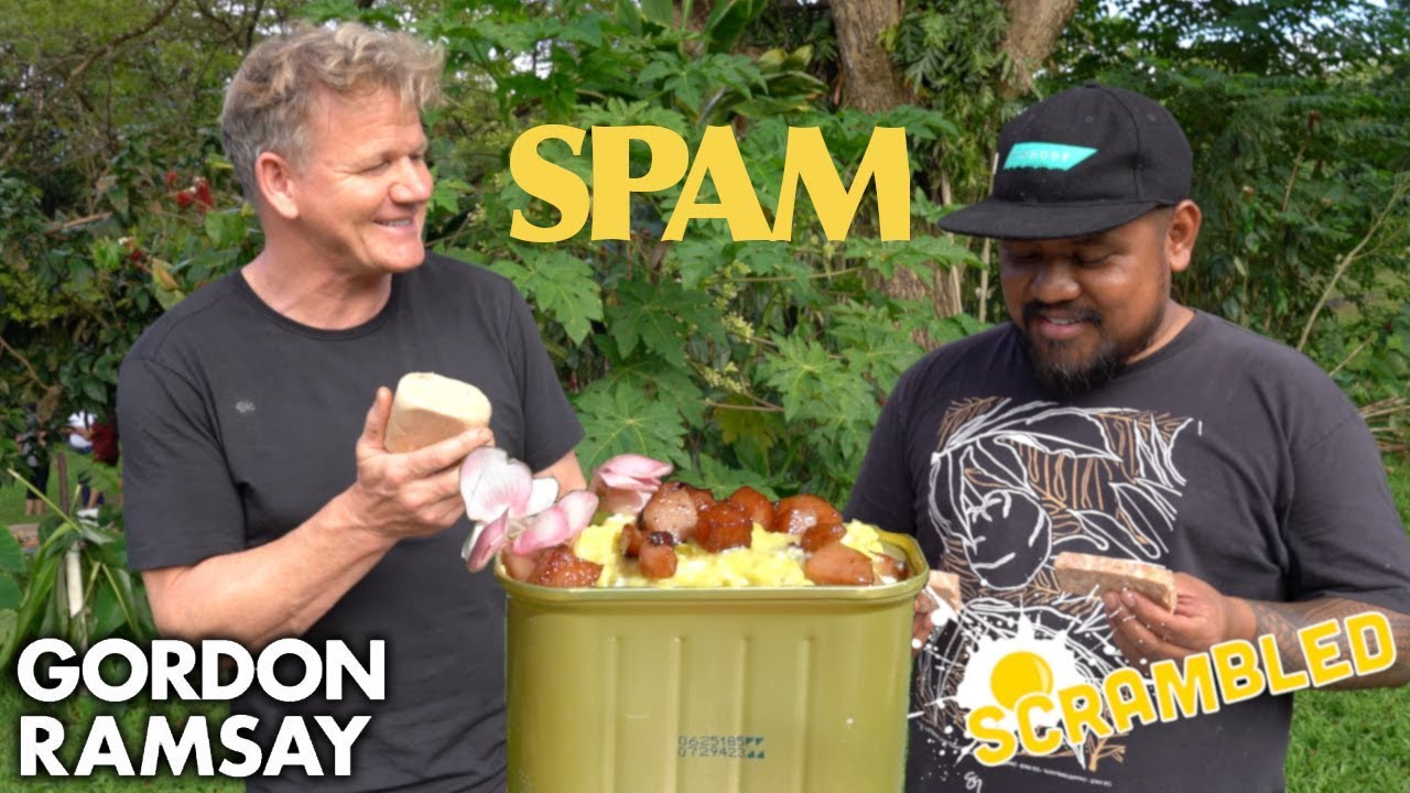 Gordon Ramsay Makes SPAM Scrambled Eggs in Hawaii | Scrambled image