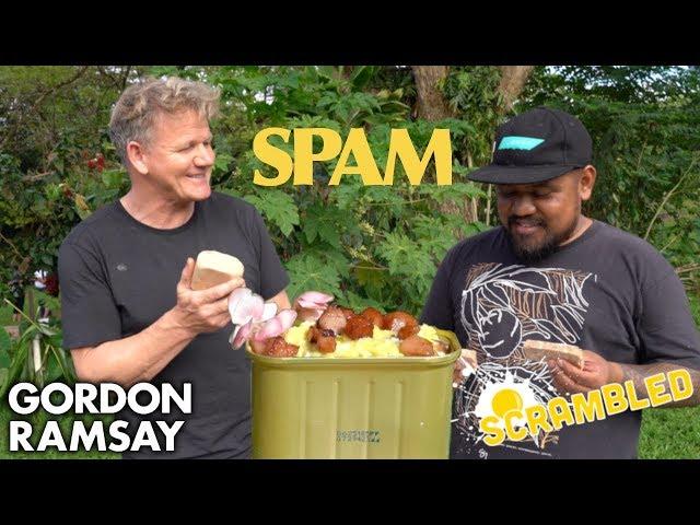 Gordon Ramsay Makes SPAM Scrambled Eggs in Hawaii | Scrambled
