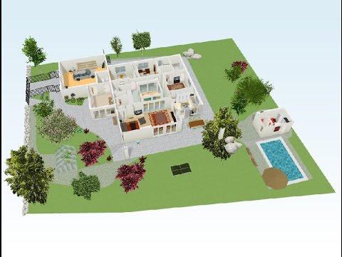 Planos de casas campestres en 3d youtube for Planos de cabanas campestres