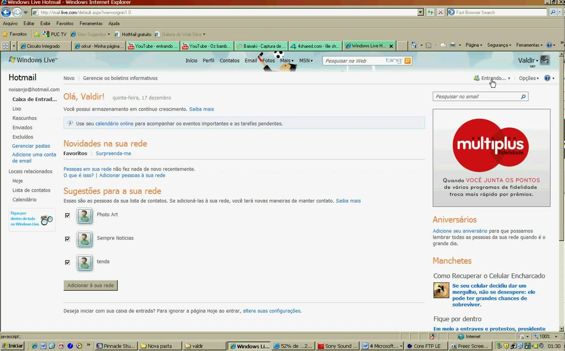 Como entrar no msn pelo hotmail. - YouTube