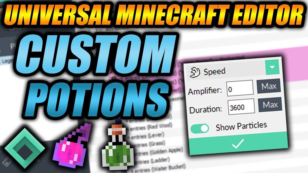 Universal Minecraft Editor - NEW Custom Potions Quick Mod Explained!