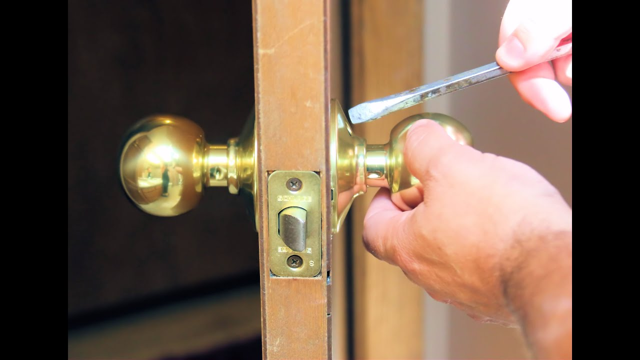 How to Replace A Door Knob Without Visible Screws - YouTube