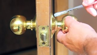 How to Replace A Door Knob Without Visible Screws