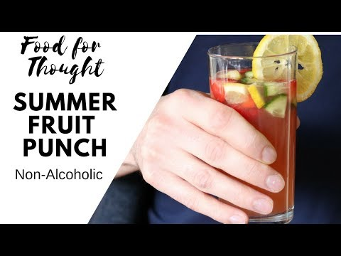QUICK And EASY Summer Fruit Punch | Non Alcoholic