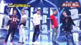 UNIQ - Falling in Love - Idol School Ep.16 & DJ special stage Minx,Hello Venus,MR.MR.,Mad Town,4Ten